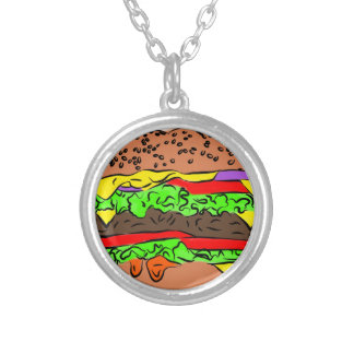 Cheeseburger Versilberte Kette