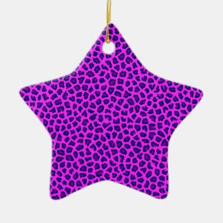 Cheetah-Druck lila auf Rosa Keramik Ornament