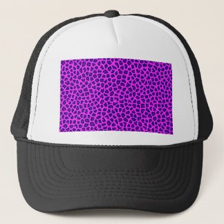 Cheetah-Druck lila auf Rosa Truckerkappe