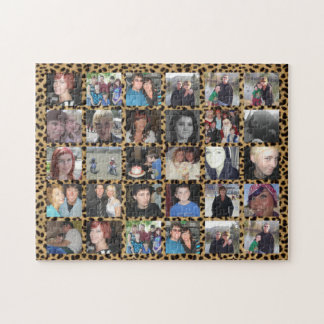 Cheetah machen es 30 Bild Instagram Foto-Collage Puzzle