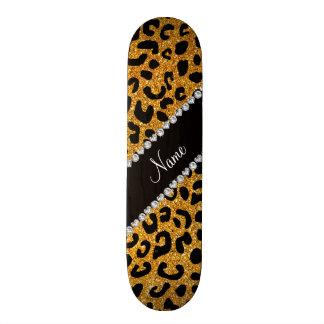 Cheetahdruck Glitter des individuellen Namens Bedrucktes Skateboard
