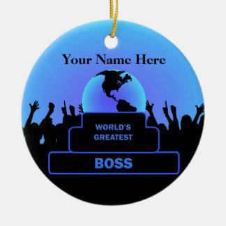Chef-bestster Beifall-kundenspezifisches blaues Rundes Keramik Ornament
