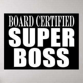 Chef-Büro-Partys: Brett zugelassener Superchef Plakatdrucke