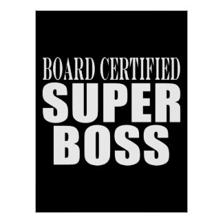 Chef-Büro-Partys: Brett zugelassener Superchef Plakate