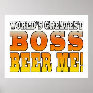Chef-Büro-Partys-weltbestes Chef-Bier ich Plakate
