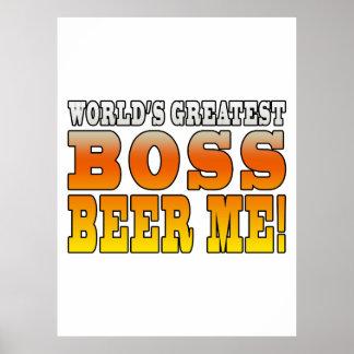 Chef-Büro-Partys-weltbestes Chef-Bier ich Plakat