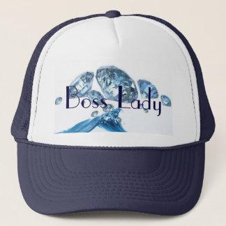 Chef-Dame Blue Diamonds Trucker Hat Truckerkappe