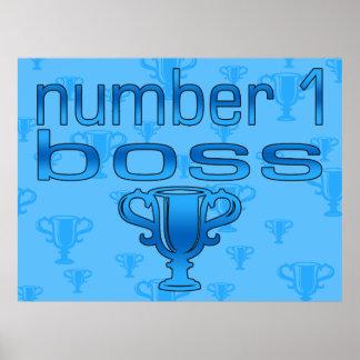 Chef der Nr.-1 im Blau Plakatdrucke