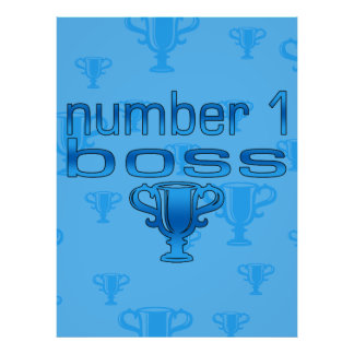 Chef der Nr.-1 im Blau Plakate