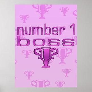 Chef der Nr.-1 im Rosa Poster