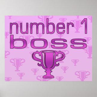 Chef der Nr.-1 im Rosa Posterdruck