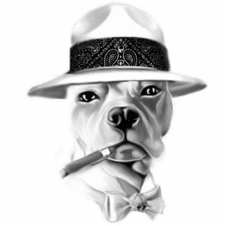Chef Dogg Freistehende Fotoskulptur