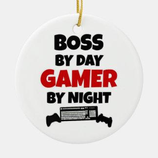 Chef durch TagesGamer bis zum Nacht Keramik Ornament