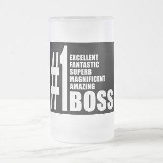 Chef-Geburtstags-Geschenke: Chef der Nr.-eine Matte Glastasse