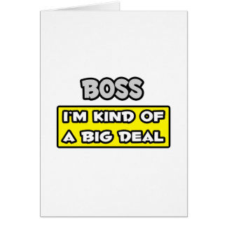 Chef. Ich bin ein bisschen eine große Sache Grußkarte
