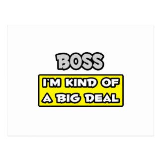 Chef. Ich bin ein bisschen eine große Sache Postkarte