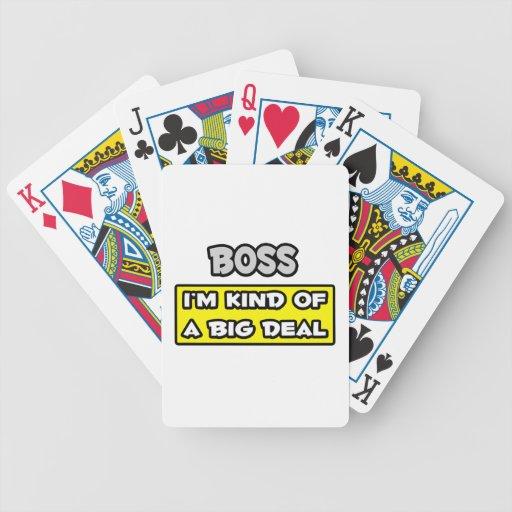 Chef. Ich bin ein bisschen eine große Sache Poker Karten