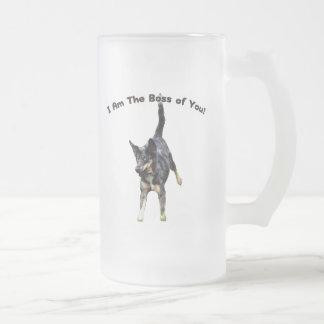 Chef von Ihnen Catahoula Hund Matte Glastasse