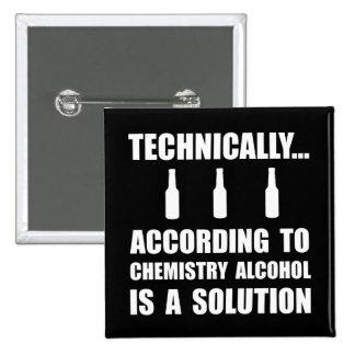 Chemie-Alkohol-Lösung Quadratischer Button 5,1 Cm