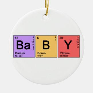 Chemie-Baby Rundes Keramik Ornament