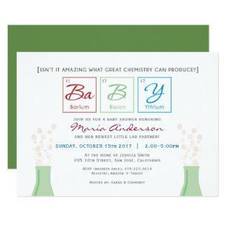 Chemie-Babyparty-Periodensystem laden ein 12,7 X 17,8 Cm Einladungskarte