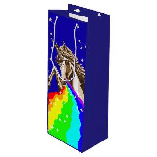 Chemie-Einhorn kotzt Regenbogen Geschenktüte Für Weinflaschen