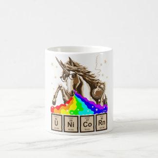 Chemie-Einhorn kotzt Regenbogen Kaffeetasse