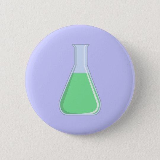 Chemie Erlenmeyer Kolben chemistry flask Runder Button 5,7 Cm