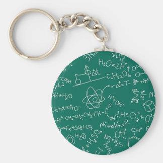 Chemie-Gekritzel Standard Runder Schlüsselanhänger