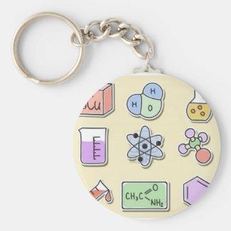 Chemie in, grundlegendem aber standard runder schlüsselanhänger