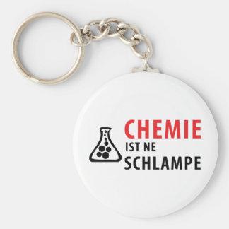 chemie ist-Ne schlampe Ikone Standard Runder Schlüsselanhänger