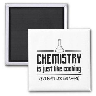 Chemie kocht quadratischer magnet