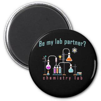 Chemie-Labrador Runder Magnet 5,1 Cm