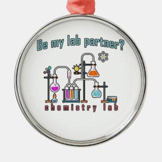Chemie-Labrador Silbernes Ornament