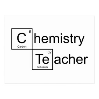 Chemie-Lehrer Postkarte