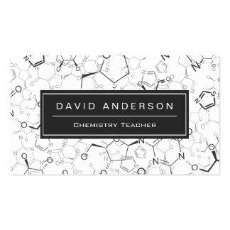 Chemie-Lehrer-stilvolles chemische Formel-Muster Visitenkarten
