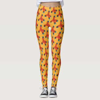 Chemie-Muster-Aussenseiter-orange Methan-Moleküle Leggings