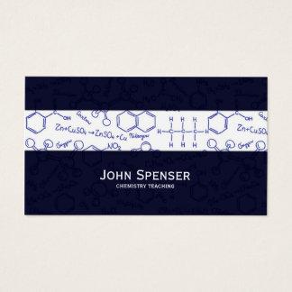 Chemie-unterrichtende Tutor-Blau-Visitenkarte Visitenkarte