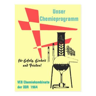 Chemie Werbedesign/Plakatdesign DDR 60er. Postkarten
