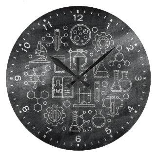 Chemie-Wissenschafts-Tafel-Uhr Große Wanduhr