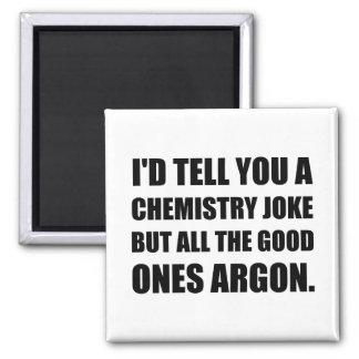 Chemie-Witz die gute Argon Quadratischer Magnet