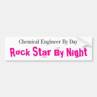Chemieingenieur bis zum Tag, Rockstar bis zum Autoaufkleber