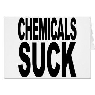 Chemikalien sind zum Kotzen Karte