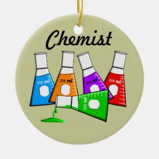 Chemiker Beekers Weihnachtsverzierung Rundes Keramik Ornament