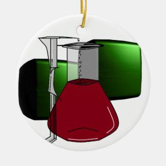 Chemiker-Chemie-Becher-Reagenzglas-Lösungen Rundes Keramik Ornament