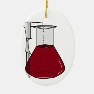 Chemiker-Chemie-Becher-Reagenzglas-Lösungen Ovales Keramik Ornament