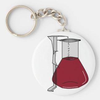 Chemiker-Chemie-Becher-Reagenzglas-Lösungen Schlüsselbänder