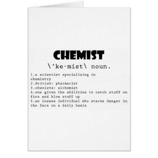 Chemiker-Definition Karte