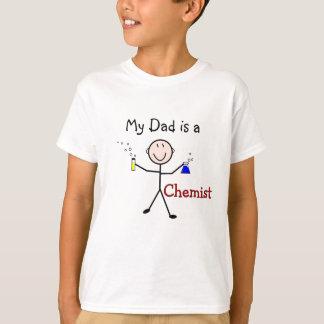 Chemiker Geschenk-Stock Person mit Reagenzgläsern T-Shirt