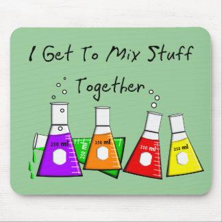 """Chemiker-""""ich erhalte, Material-zusammen zu mische Mauspad"""